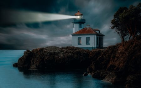 Lighthouse - Ocean, shore, coast, lighthouse