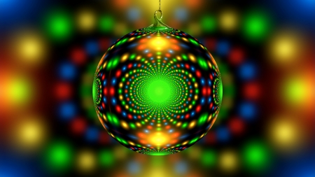 Abstract Ornament - colorful, christmas, abstract, ornament, photography