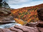 From the top of Kaaterskill Falls, Catskill Mountains, New York