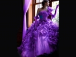 Purplicious Gown and Gloves