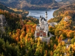 Neuschwanstein Castle in the Autumn