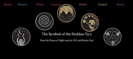 the goddess symbols from the house of night series