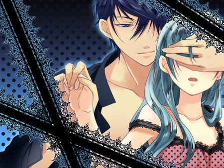 Romeo and Cinderella - vocaloid, kaito, hatsune miku, anime, couple