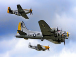 Boeing B-17 Flying Fortress and P 51 Mustang