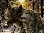 Dark Forest Wolves