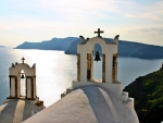 Bell Towers in Santorini
