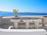 Terrace in Santorini