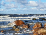 Rocky Beach in Latvia