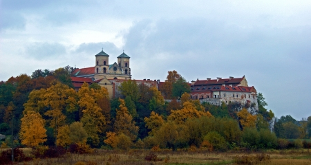 Church of St. Peter and Paul, Krakow, Poland - colors, autumn, trees, buildings