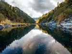 Looking downstream on the Rogue River, Oregon