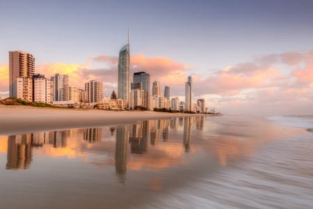 Brisbane, Australia ( The Gold Coast ) - bisbane, sand, reflection, ocean