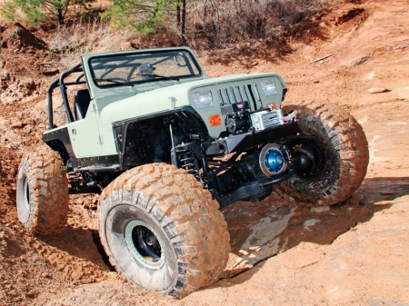 Jeep Wrangler YJ 1995 - thrill, 4x4, offroad, crawler