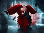 Red Raven Fantasy Girl