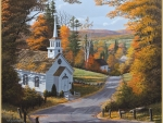 Beautiful Church in Autumn