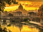 Golden light over Rome