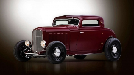 1932 Ford 3-Window Coupe - Classic, Ruby, Hotrod, 1932