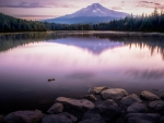 Last Light at Mt Hood National Forest, Lake Trillium, Oregon