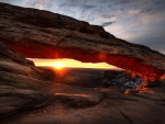 Mesa Arch at sunset, Canyonlands National Park