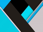 Blue Green Material Design Abstract