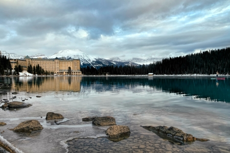 Chateau Lake Louise, Alberta - chateau, canada, mountains, lake