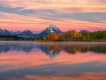 Fall Colors at Oxbow Bend, Grand Teton National Park