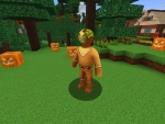 Acid Gingy Grimacing in Halloween Event in Realmcraft Free Minecraft Style Game