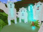 Polar Bears Scared of Diamond Sword in RealmCraft Free Minecraft StyleGame