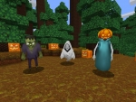 Frank, Ghost and Pumpkin Jack - Creepy Halloween Mobs in Realmcraft Free Minecraft Clone