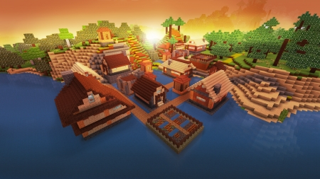 Perfect Cozy Village in Realmcraft Free Minecraft Style Game - open world game, gaming, playgames, realmcraft, pixel games, mobile games, sandbox, free minecraft, games, free, action, game, minecrafters, pixel art, art, 3d building games, fun, pixel, adventure, building, 3d, minecraft