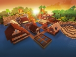 Perfect Cozy Village in Realmcraft Free Minecraft Style Game