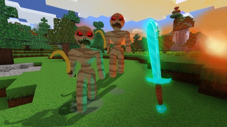 Angry Mummies Attack - Halloween in RealmCraft Free Minecraft Clone - open world game, gaming, playgames, realmcraft, pixel games, mobile games, sandbox, free minecraft, games, free, action, game, minecrafters, pixel art, art, 3d building games, fun, pixel, adventure, building, 3d, minecraft