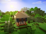 Little House on the Lovely Meadow in RealmCraft Free Minecraft StyleGame