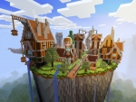 Magical Town, Wizard in Diamond Armor Only in Realmcraft Free Minecraft StyleGame