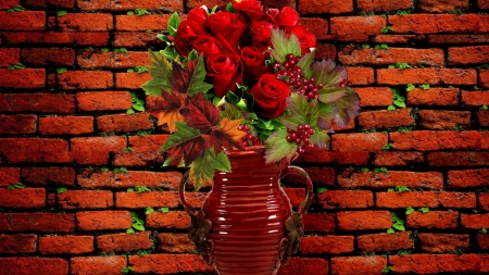 ❤️ - Roses, Flowers, Background, Wall