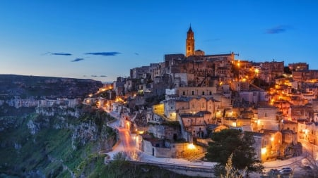 Matera Italy - cities, architecture, Matera, italy, buildings