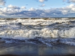 Wavy Sea in Latvia
