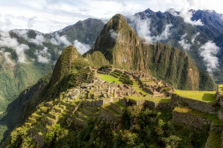 Machu Picchu, Peru - ruins, aztec, peru, mountains
