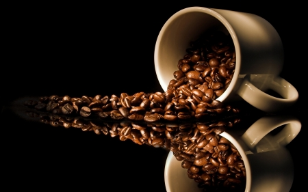 Coffee Beans - cup, photography, coffee, beans