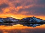 Sunset Reflection Near Steamboat, Colorado