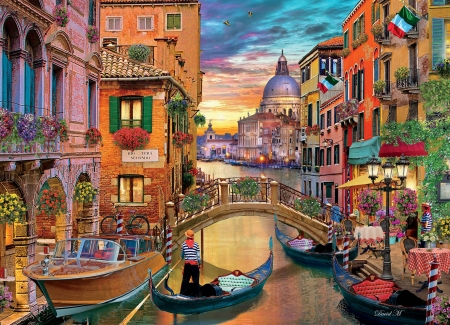 City - paintings, city, beatiful, houses