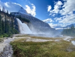 Emperor's Falls and Mount Robson, Berg Lake Trail, British Columbia