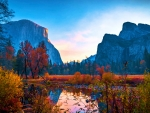 November Sunrise in Yosemite National Park