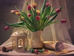 Tulips and Lantern