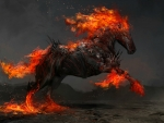 Flaming Horse Artwork