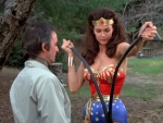 Wonder Woman Bending Both Barrels