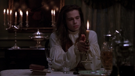 interview with the vampire - man, vampire, interview, candles
