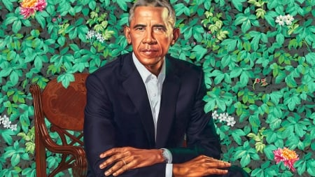 Barack Obama - green, painting, president, face, obama, portrait, pictura, art, barack obama, man