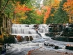 Autumn at the Quartzite Falls, Michigan