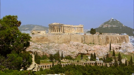Acropolis of Athens - greece, photography, monuments, ancient, HD, acropolis, aerial, athens