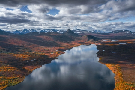The vast wilderness of Swedish Lapland